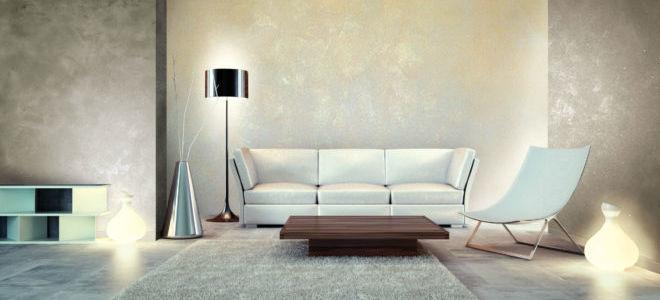 Эффектная отделка: декоративная штукатурка в интерьере дома